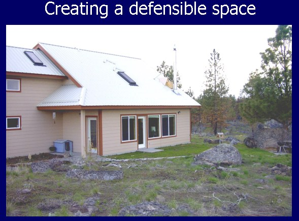 Fuel reduction priorities for Building a defensible home